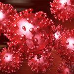 Artistic 3D illustration of the coronavirus
