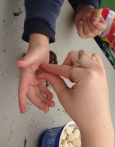 Kids Day hand and seed