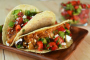 Spaghetti Squash Tacos with Sweet and Spicy Pepper Salsa