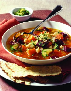 Warm up to veggie packed soup