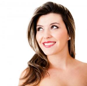 Beautiful woman wearing make up