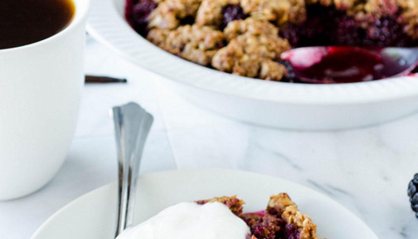 Blackberry Vanilla Crisp (Gluten Free)