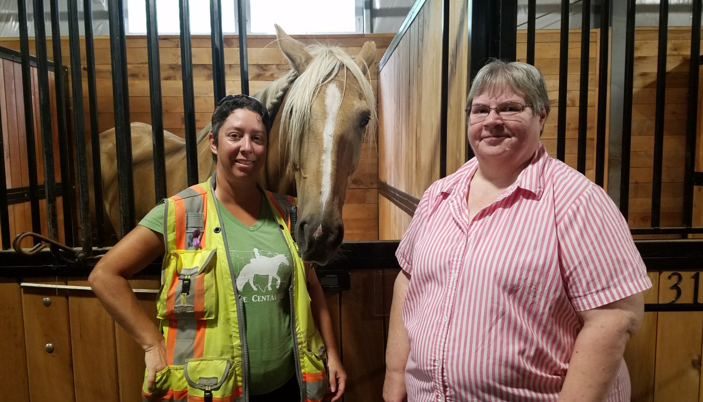 Homestead Stables by Heritage Hosts Equine Ambassador Riding for Domestic Violence Awareness