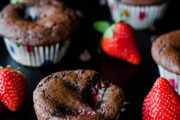 Double Chocolate Strawberry Muffins (Gluten Free)