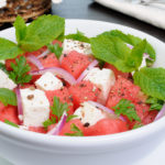 watermelon feta cheese salad mint